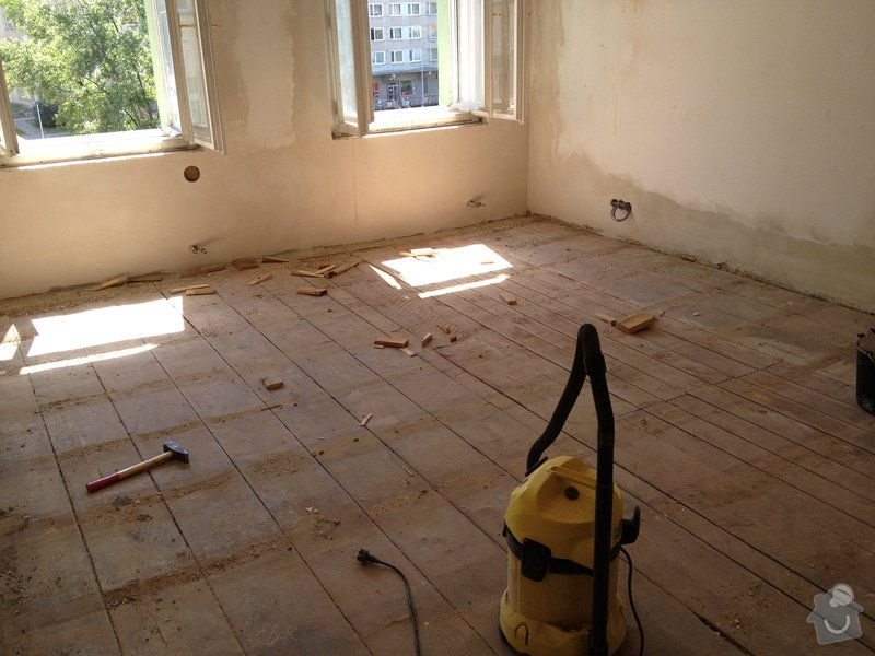 Vyrovnání podlah záklopem z OSB desek: byt-rekonstrukce-217
