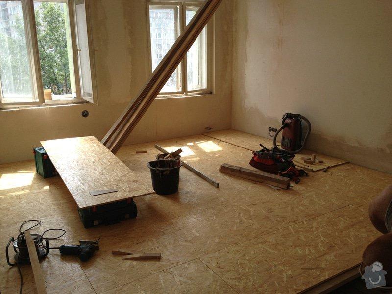 Vyrovnání podlah záklopem z OSB desek: byt-rekonstrukce-223