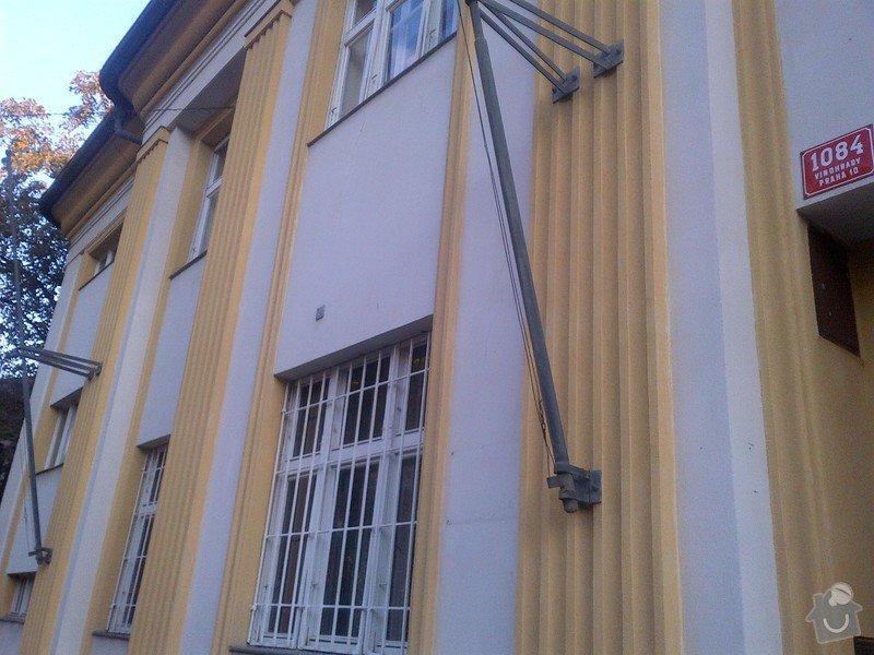 Revize a drobné opravy (utěsnění otvorů po odstranění některých prvků) opláštění měděné střechy se stářím cca 15 let: IMG-20131002-00421