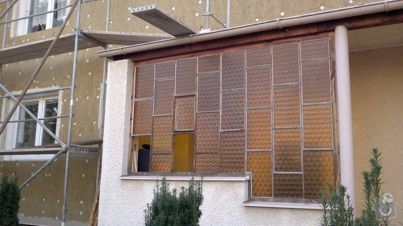 Renovace prosklené stěny zádveří: 2013-10-05-0319
