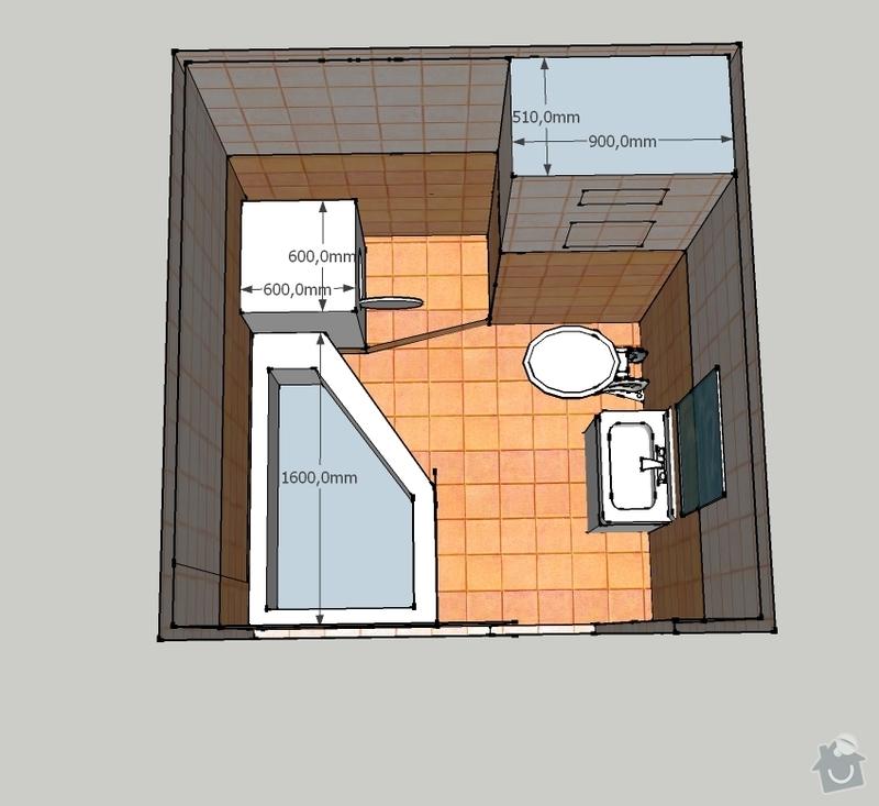Rekonstrukce koupelny v panelovém domě: Koupelnadoma8