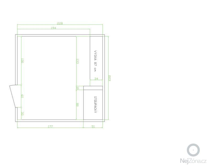 Rekonstrukce koupelny v panelovém domě: Vykres-soucasny_stav