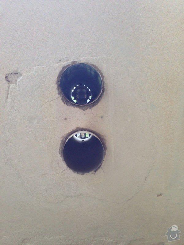 Zazdění 4 otvorů ve zdi po topení WAW: stena1-1