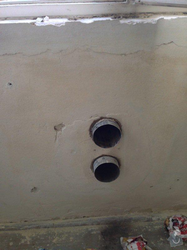 Zazdění 4 otvorů ve zdi po topení WAW: stena1-2