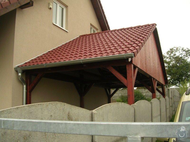 Přistřešek na auto 3×5m sedlová střecha: DSCN8485