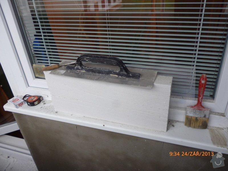 Omítnutí balkonu: P1040445
