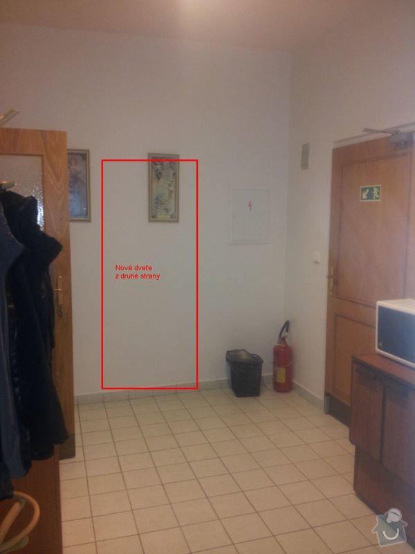 Zednické práce - nové dveře, vymalování, atd.: 01