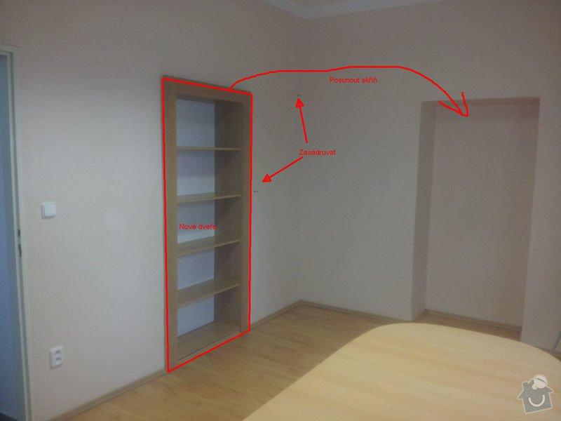 Zednické práce - nové dveře, vymalování, atd.: 02