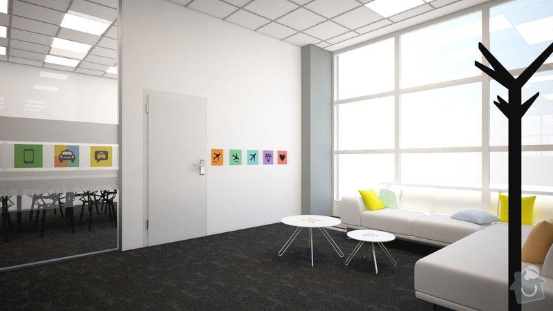 Stěna ze sádrokartonu se skleněnou částí: d