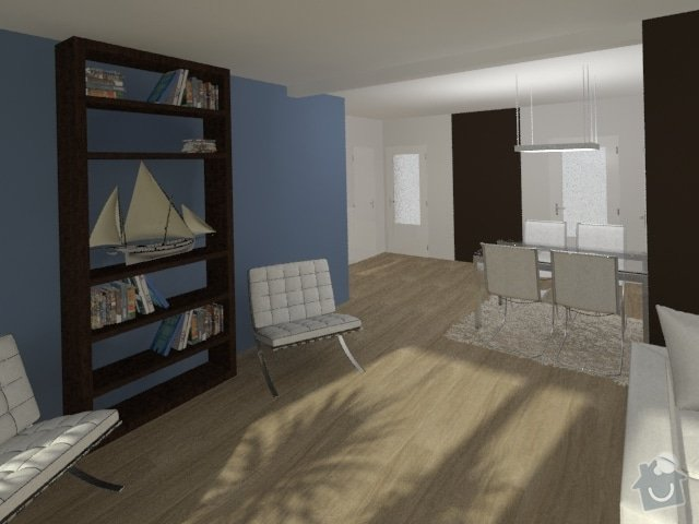 Porada s interiérem kuchyně a obývacího pokoje: Byt_Jerabinova_obyvak_20