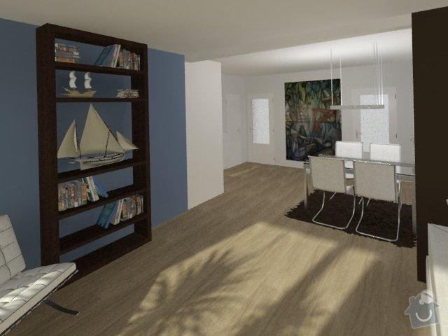 Porada s interiérem kuchyně a obývacího pokoje: Byt_Jerabinova_obyvak_22