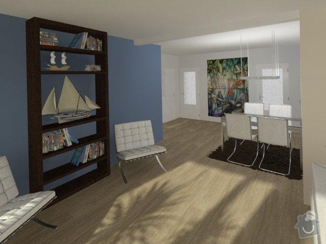 Porada s interiérem kuchyně a obývacího pokoje: Byt_Jerabinova_obyvak_23