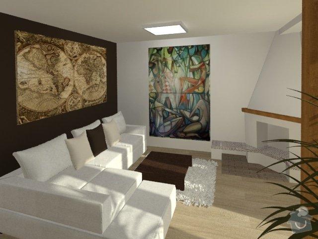 Porada s interiérem kuchyně a obývacího pokoje: Byt_Jerabinova_obyvak_27
