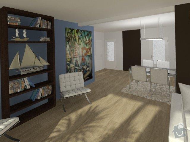 Porada s interiérem kuchyně a obývacího pokoje: Byt_Jerabinova_obyvak_29