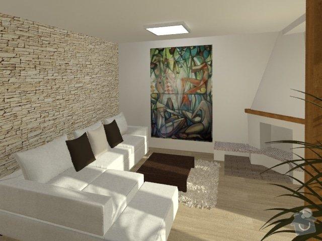 Porada s interiérem kuchyně a obývacího pokoje: Byt_Jerabinova_obyvak_31