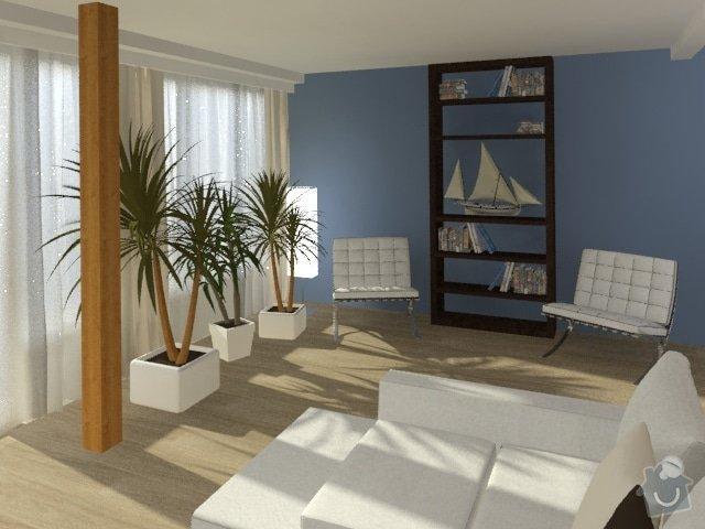 Porada s interiérem kuchyně a obývacího pokoje: Byt_Jerabinova_obyvak_35