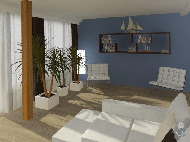 Porada s interiérem kuchyně a obývacího pokoje: Byt_Jerabinova_obyvak_34