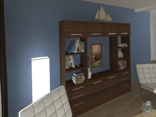 Porada s interiérem kuchyně a obývacího pokoje: Byt_Jerabinova_obyvak_39