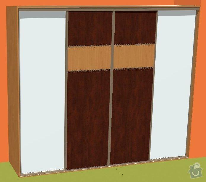 Vestavěná skříň na míru: dvere_3D