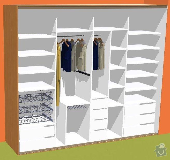 Vestavěná skříň na míru: korpus_3D
