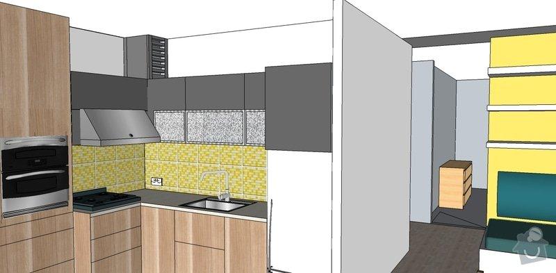 Rekonstrukce bytu: vymalba_kuchyne