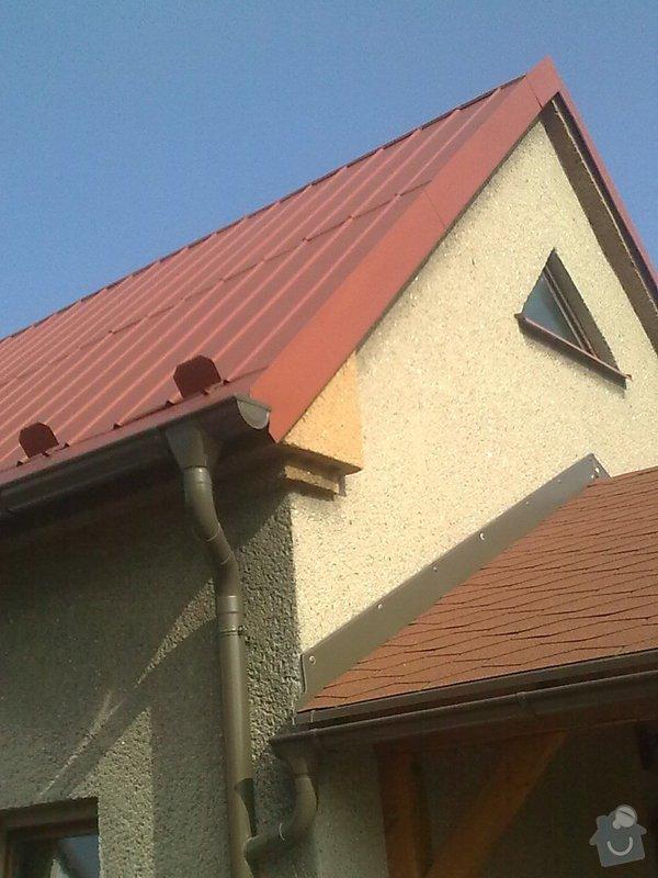 Nátěr plechové střechy na rod. domku: Obraz0558