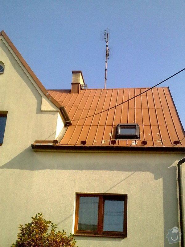Nátěr plechové střechy na rod. domku: Obraz0556