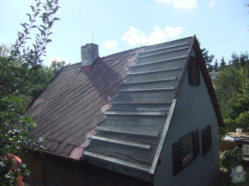 Položení nové plechové střechy: DSCF1317