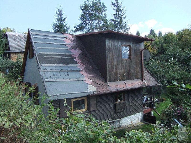 Položení nové plechové střechy: DSCF1318