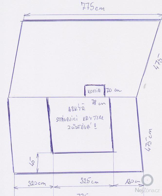 Položení nové plechové střechy: chata1_001