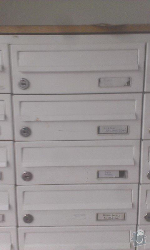 Oprava dopisni schranky: IMAG3040