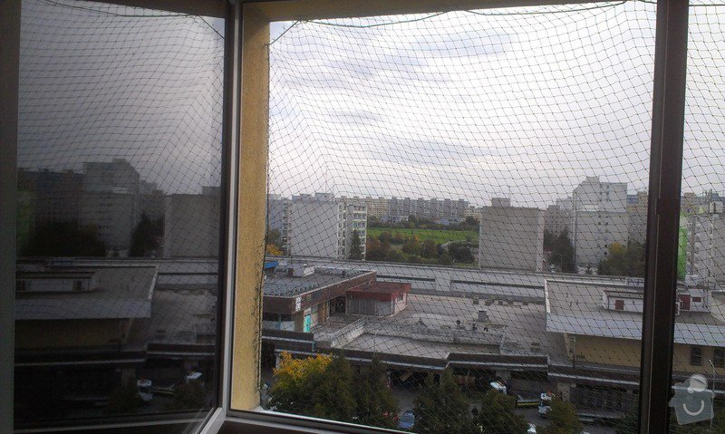 Instalace sítě na kočky do okna: IMAG3065