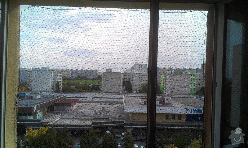 Instalace sítě na kočky do okna: IMAG3066