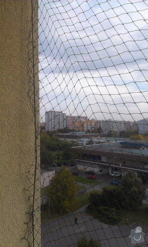 Instalace sítě na kočky do okna: IMAG3067