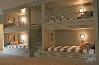 Patrové postele se skříní: postele
