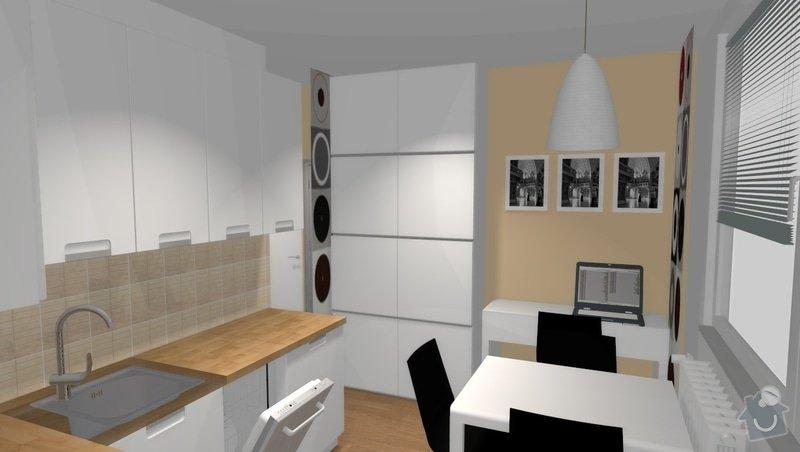 Rekonstrukce bytu 1+1 v Brně, Bystrci: var1_pohled12_2_