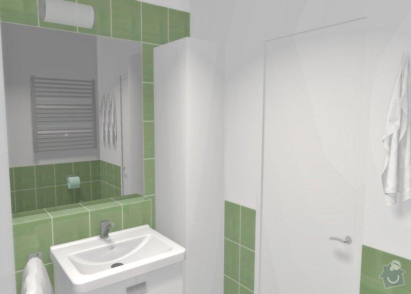 Rekonstrukce bytu 1+1 v Brně, Bystrci: var1_pohled15pohled2