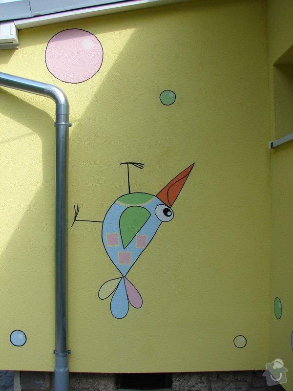 Nástěnná malba pro miniškolku v roce 2012, 2013 + Renovace a výzdoba dveří samolepkami: DSC09447