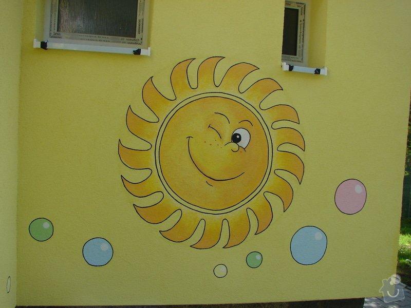 Nástěnná malba pro miniškolku v roce 2012, 2013 + Renovace a výzdoba dveří samolepkami: DSC09448