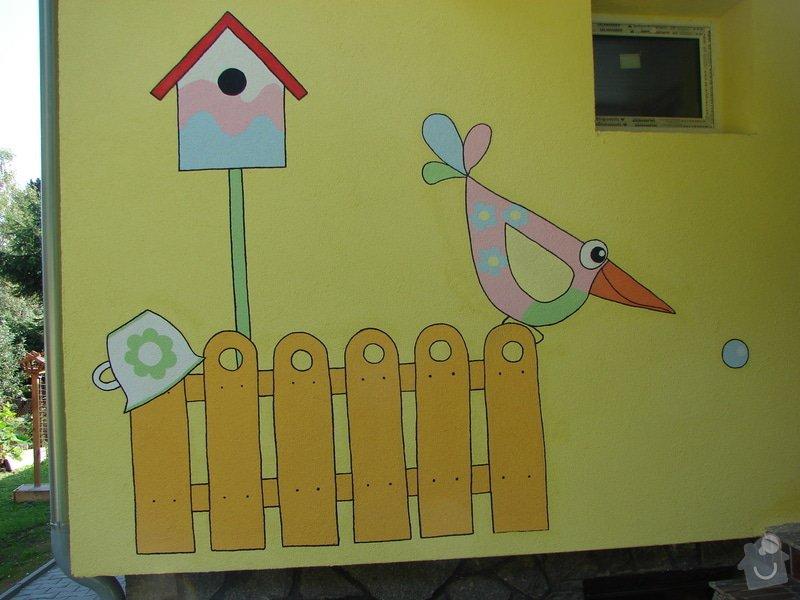 Nástěnná malba pro miniškolku v roce 2012, 2013 + Renovace a výzdoba dveří samolepkami: DSC09450