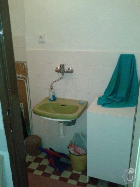 Rekonstrukce koupely+ toalety: koupelna1