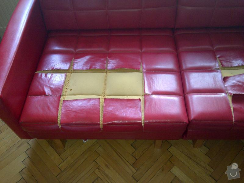 Přečalounění sedáků koženkové pohovky : IMG-20131008-00095