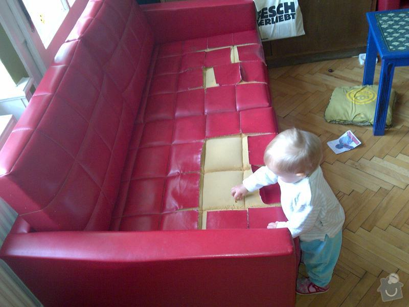 Přečalounění sedáků koženkové pohovky : IMG-20131008-00096