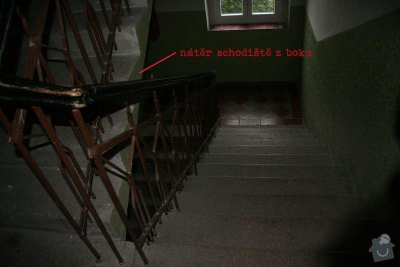 Zednické práce, rekonstrukce vnitřních prostor bytového domu: nater_schodiste_z_boku
