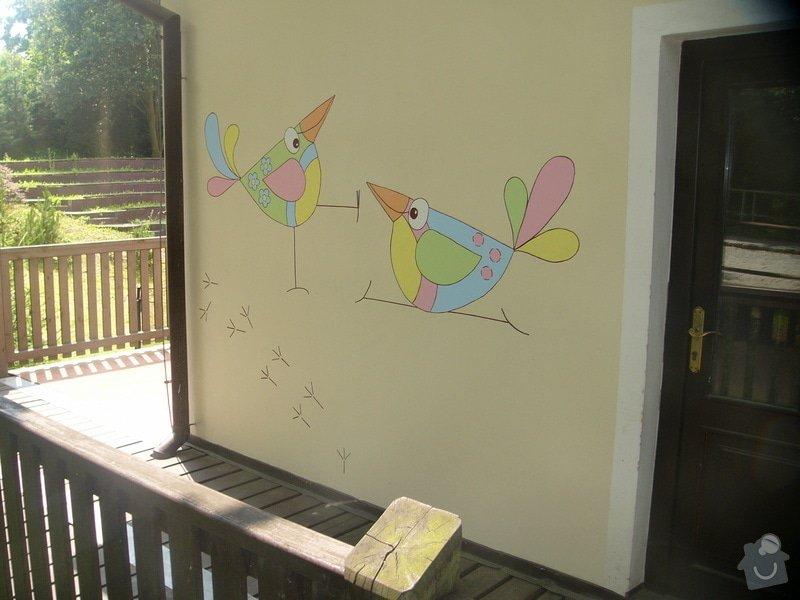Nástěnná malba pro miniškolku v roce 2012, 2013 + Renovace a výzdoba dveří samolepkami: nastenna-malba-pro-miniskolku-v-roce-2012_P1270906