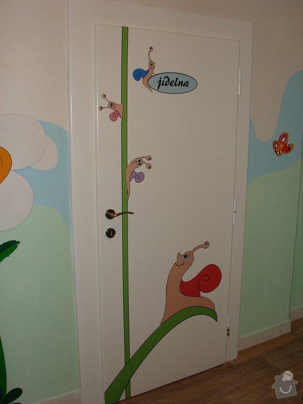 Nástěnná malba pro miniškolku v roce 2012, 2013 + Renovace a výzdoba dveří samolepkami: renovace-a-vyzdoba-dveri-samolepkami_DSC09419