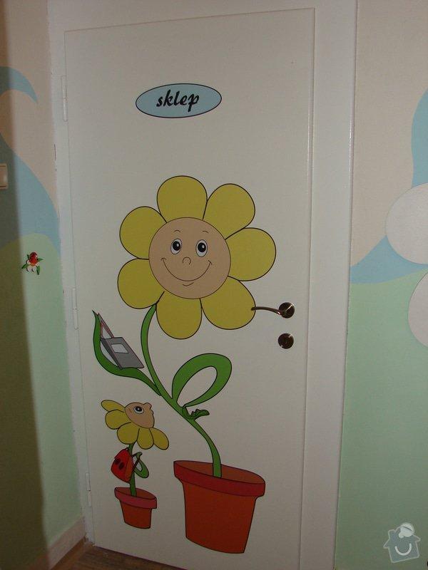 Nástěnná malba pro miniškolku v roce 2012, 2013 + Renovace a výzdoba dveří samolepkami: renovace-a-vyzdoba-dveri-samolepkami_DSC09420