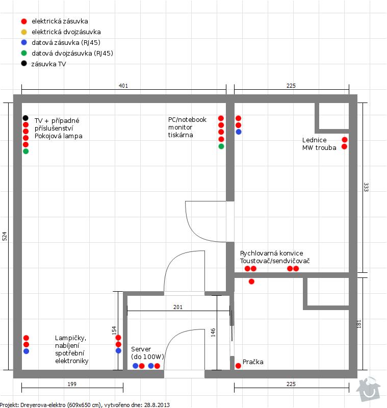 Rekonstrukce elektroinstalace panel 1+1: Dreyerova-plan-elektroinstalace