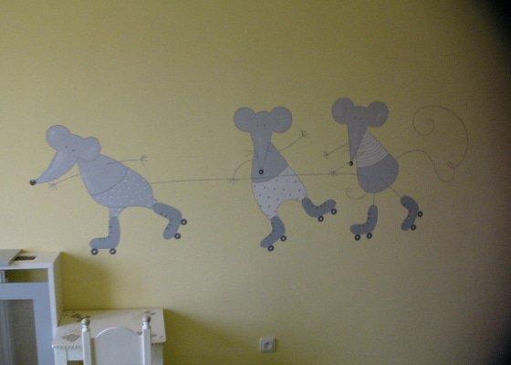 Nástěnná malba do dětského pokoje