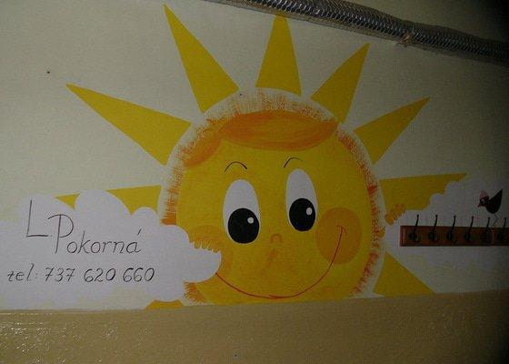 Dekorace stěny chodby MC Oáza